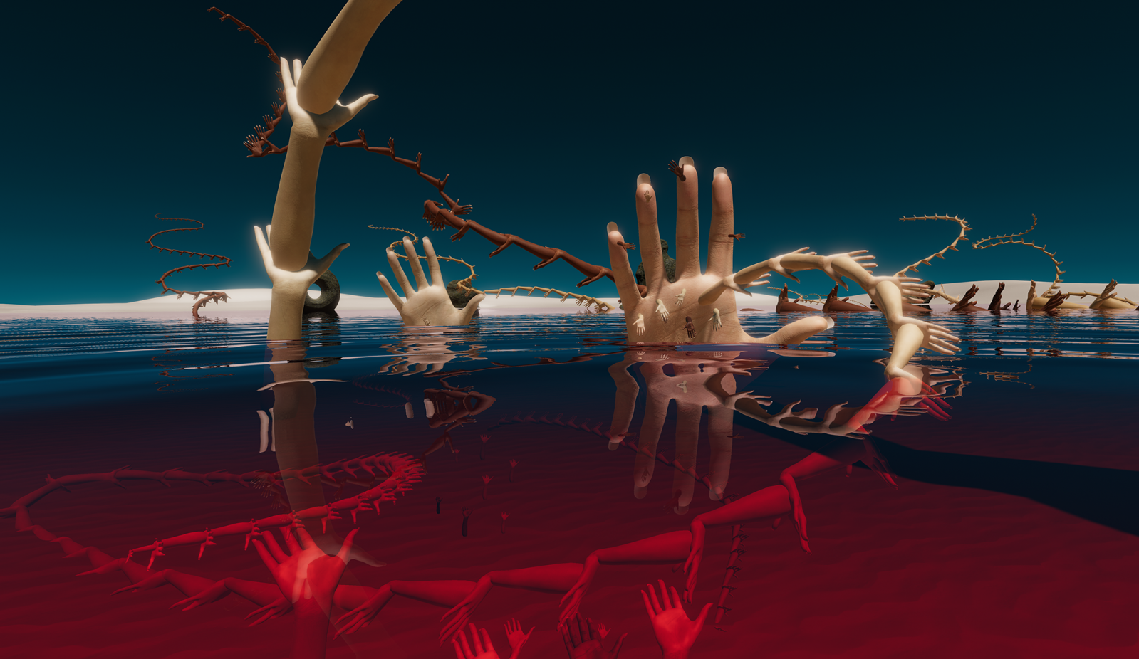 HanaHana : Full bloom, Multi-users VR playground, Mélodie Mousset, 2019. Fabbula